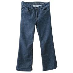 Jeans très evasé, patte d'éléphant 7 For All Mankind  pas cher