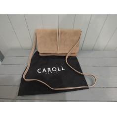 Sac en bandoulière en cuir Caroll  pas cher
