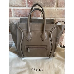 Sac à main en cuir Céline Luggage pas cher