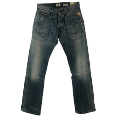 Jeans large, boyfriend Replay  pas cher