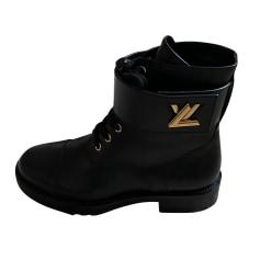 Bottines & low boots motards Louis Vuitton  pas cher