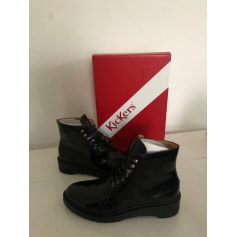 Bottines & low boots motards Kickers  pas cher