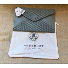 Handtasche Leder Pourchet