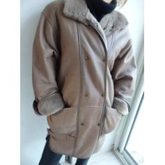 Manteau en cuir Made in France  pas cher