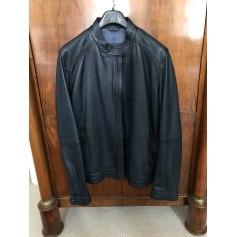 Leather Zipped Jacket Massimo Dutti