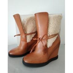 Bottines & low boots à compensés Santoni  pas cher