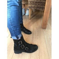 Bottines & low boots motards Betty London  pas cher