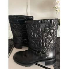 Bottines & low boots motards What For  pas cher
