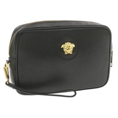Leather Clutch Versace