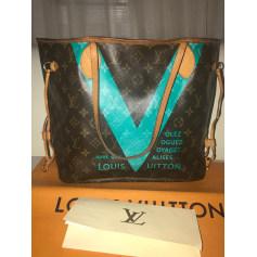 Sac en bandoulière en cuir Louis Vuitton Neverfull pas cher