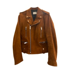 Leather Zipped Jacket Sandro