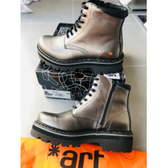 Bottines & low boots motards Art  pas cher