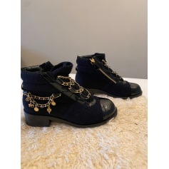 Bottines & low boots plates Chanel  pas cher