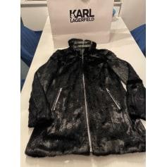 Manteau en fourrure Karl Lagerfeld  pas cher