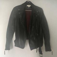 Manteau en cuir H&M  pas cher