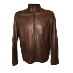 Leather Zipped Jacket Ralph Lauren