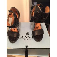 Sandales compensées Lanvin  pas cher
