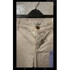 Pantalon slim, cigarette MS Mode  pas cher