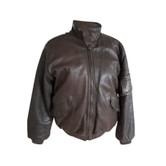 Leather Zipped Jacket Marithé et François Girbaud