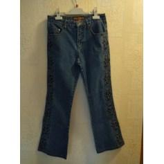 Jeans droit Bison Flower  pas cher