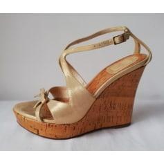 Sandales compensées Dior  pas cher
