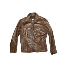 Leather Zipped Jacket Calvin Klein