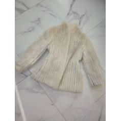 Manteau en fourrure Vison blanc  pas cher