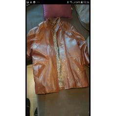 Manteau en cuir helm's  pas cher