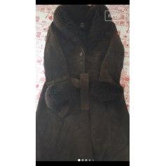 Manteau en cuir Mango  pas cher