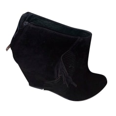 Wedge Ankle Boots Ash