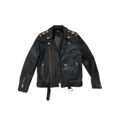 Leather Zipped Jacket The Kooples