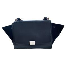Leather Shoulder Bag Céline Trapèze