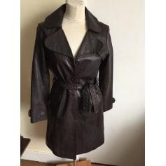 Manteau en cuir Victoire  pas cher