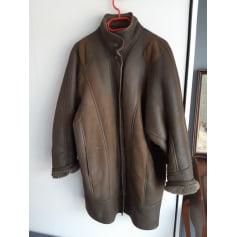 Manteau en fourrure Look cuir  pas cher