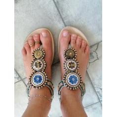Sandales plates  boutique indépendante  pas cher