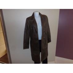 Manteau en cuir Serge Hervet  pas cher