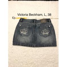 Jupe en jean Victoria Beckham  pas cher