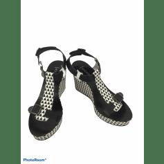 Sandales compensées Bocage  pas cher