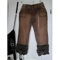 Pantalon slim, cigarette Tricot Chic  pas cher