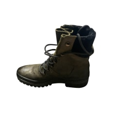 Bottines & low boots motards Tommy Hilfiger  pas cher