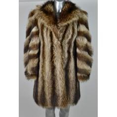 Manteau en fourrure non signé  pas cher
