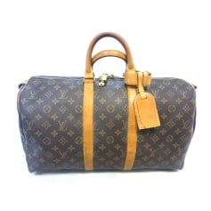 Sac XL en cuir Louis Vuitton Keepall pas cher