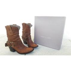 Santiags, bottines, low boots cowboy Janet & Janet  pas cher
