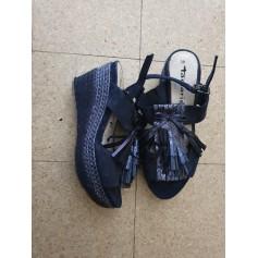 Sandales compensées Tamaris  pas cher