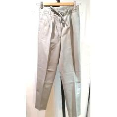 Pantalon droit cuir  pas cher