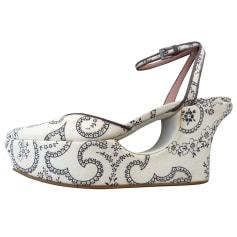 Sandales compensées Alaïa  pas cher