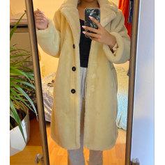 Manteau en fourrure Mango  pas cher