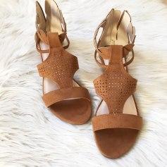 Sandales compensées Blancheporte  pas cher