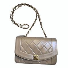Lederhandtasche Chanel Diana