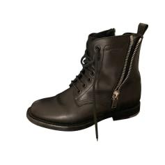 Biker Ankle Boots Saint Laurent